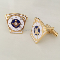 M015 Hot sale 19.1MM Epola process Holy Royal Arch Freemason Masonic cufflinks, brass material