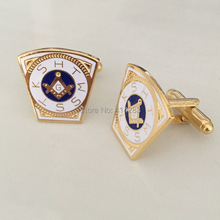 M015 Hot sale 19.1MM Epola process Holy Royal Arch Freemason Masonic cufflinks, brass material