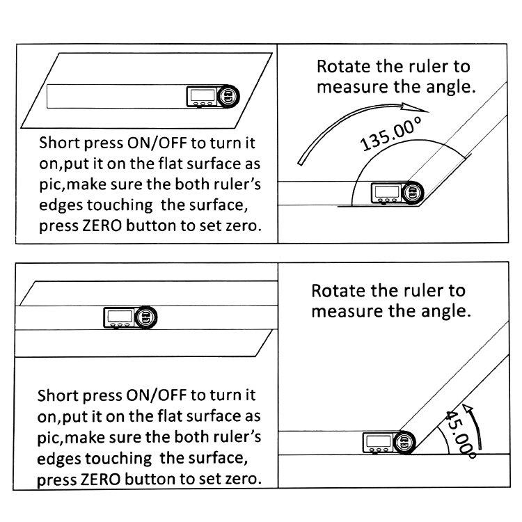 0-200 мм 0-300 мм цифровая угловая линейка из нержавеющей стали Инклинометр углеродное волокно электронный Гониометр транспортир угломер