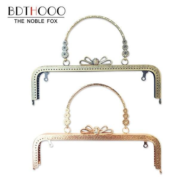 10pcs 25cm Bag Accessories Metal Purse Frame