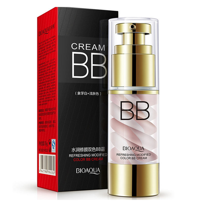 43db5e1b6ee Fashion Double color BB Cream Smooth Natural Concealer Whitening Makeup  Tools Moisturing Foundation Skin Cosmetic