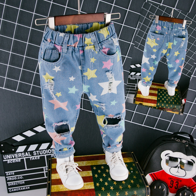 fashion-jeans-for-girls-boys-trousers-star-print-hole-ripped-denim-jeans-for-kids-spring-autumn-loose-pants-toddlers-baby-jeans-4
