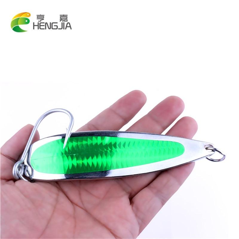 HENGJIA 1pc Big Spoon bait Deep Sinking Fishing Lures Metal Spoon Bait 135g 9/0 Single Hook Japan jig Sea Fishing Tackle