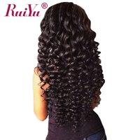 RUIYU Deep Wave Malaysian Hair Non Remy 100 Human Hair Weave Bundles Natural Color 10 28