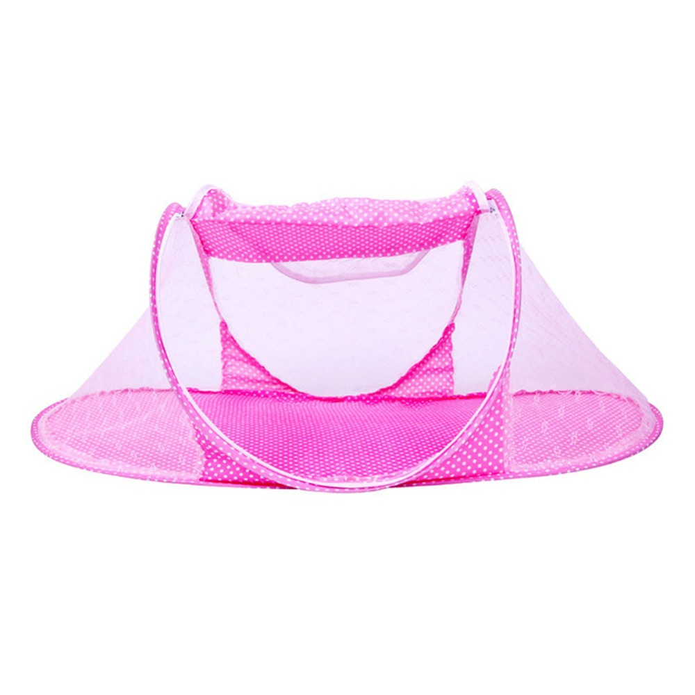 Crib Travel Bed Cotton Pillow & Pad Folding Baby Crib Portable Crib With Netting Newborn Summer Mosquito Net