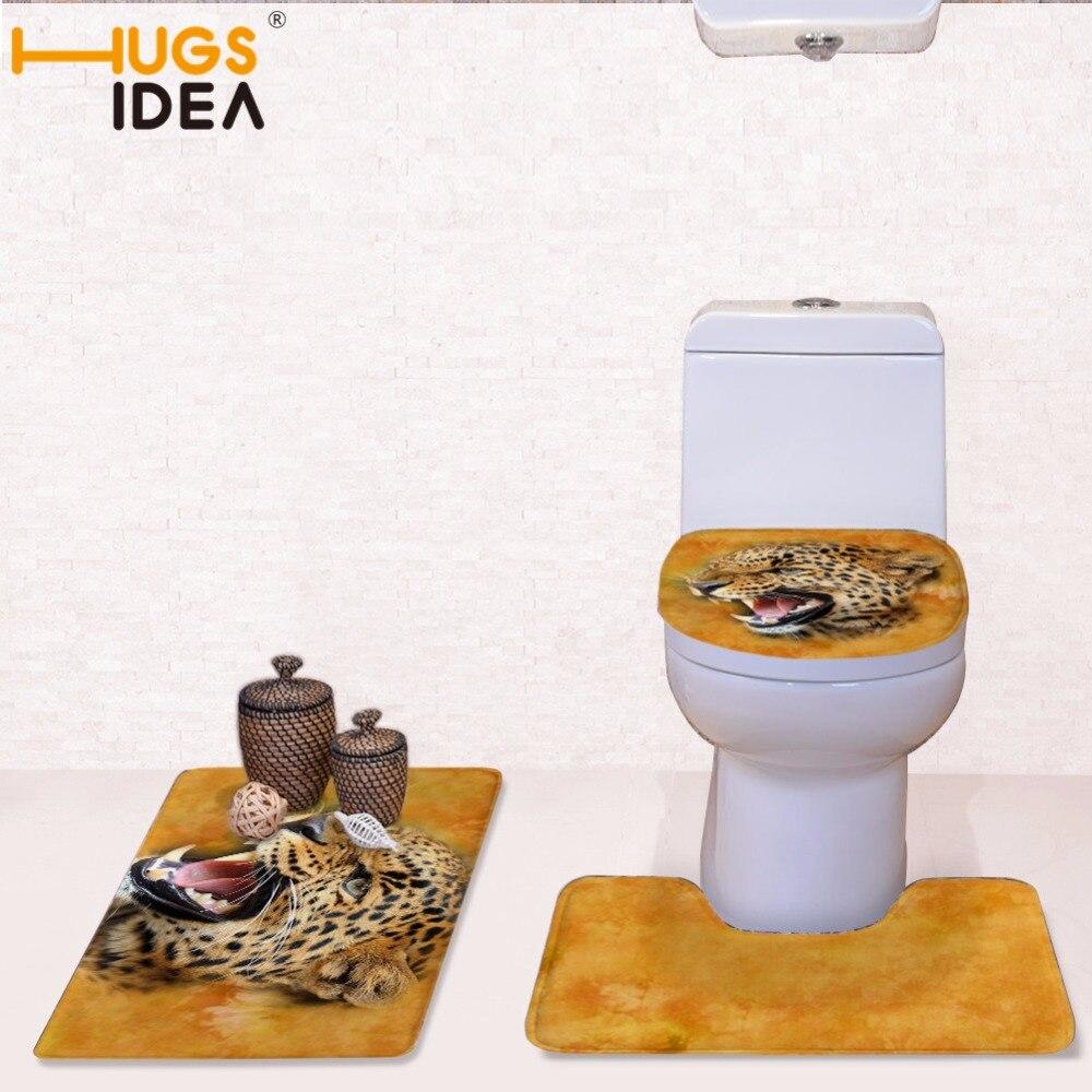 HUGSIDEA tridelna garnitura kopalniške straniščne prevleke za 3D - Gospodinjski izdelki