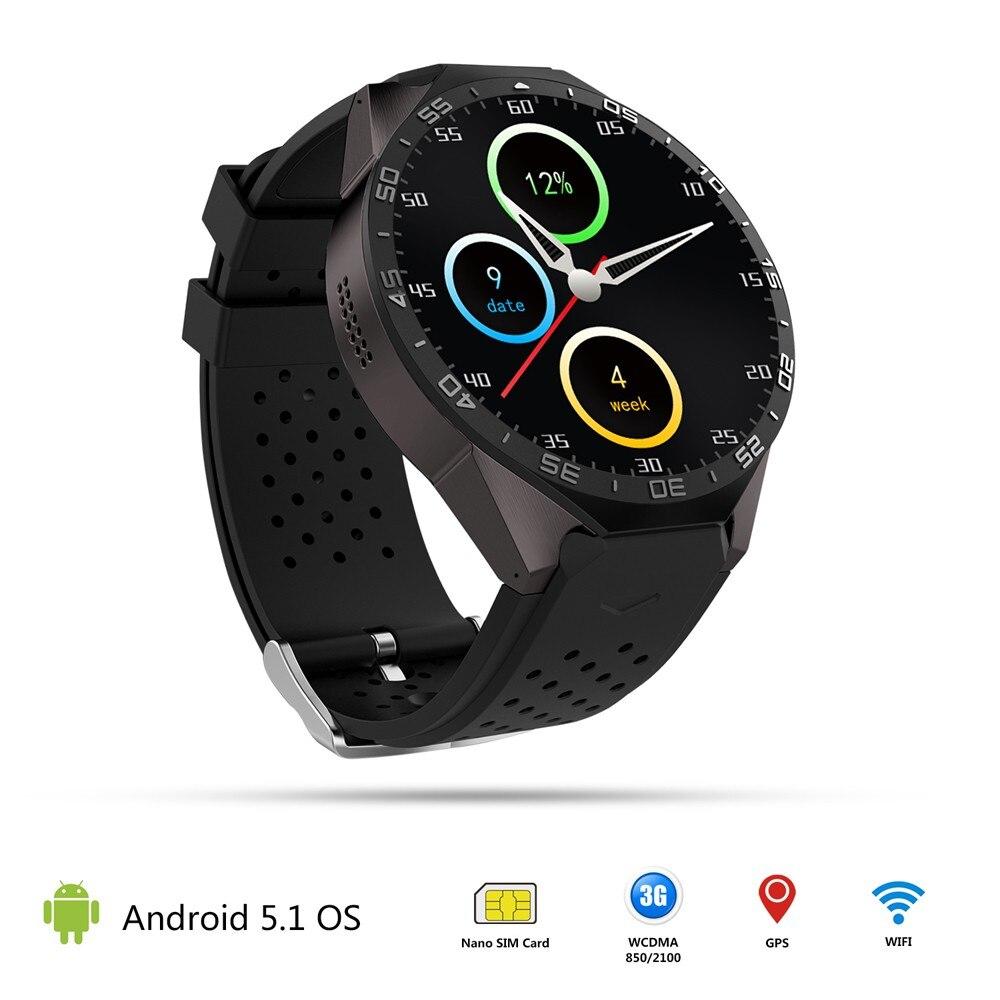 Relogio masculino 2016 горячие продажа kw88 Android 5.1 4 ядра 4 ГБ Bluetooth Smart часы GPS WI-FI для IOS мужской Часы feida