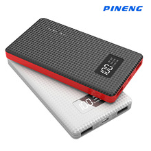 External Battery 6000mAh Original Pineng Power BankLi-Polymer Battery LED Indicator Portable Charger Power Bank for Smartphone