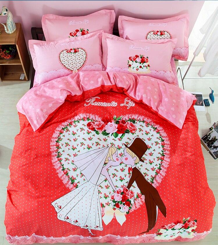 achetez en gros coeur housse de couette en ligne des grossistes coeur housse de couette. Black Bedroom Furniture Sets. Home Design Ideas