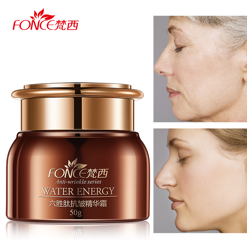 Fonce Face Anti Wrinkle Cream Day Cream Moisturizer Six Peptide Aging Serum creme anti rugas Hydrating