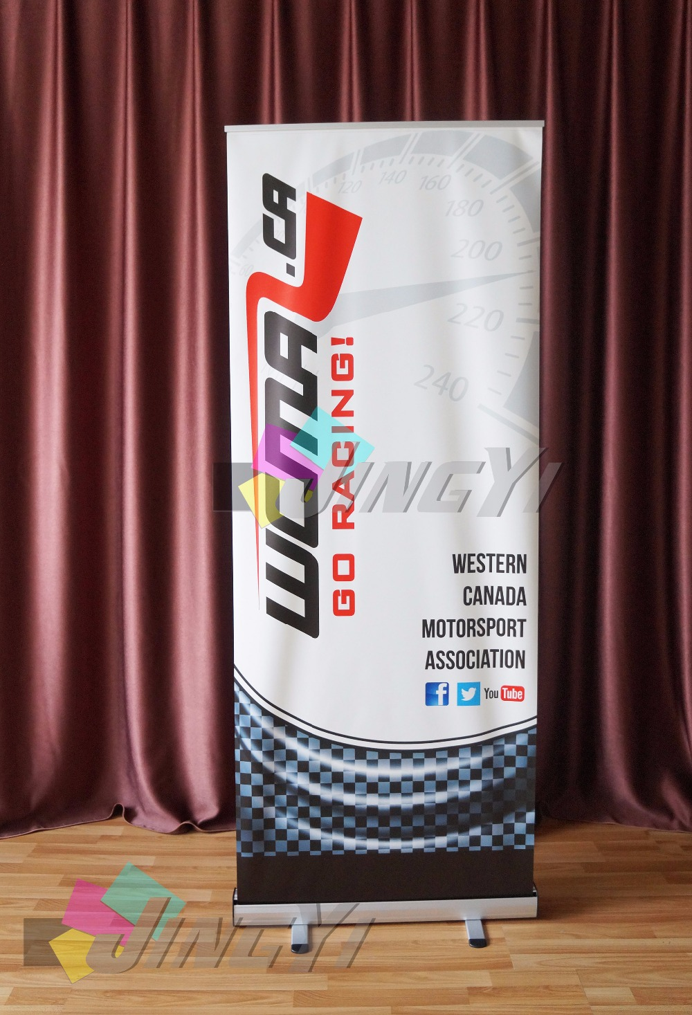 Color, Printing, Banner, With, Full, Pull