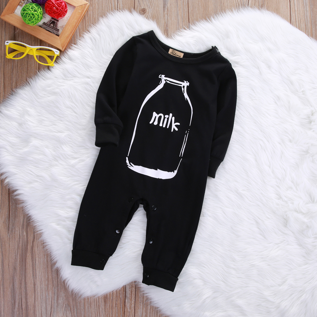 Cotton Newborn Baby Girl Boys Winter Clothes Long Sleeve Milk Romper Jumpsuit Playsuit Outfits Baby One-Piece Clothing cotton cute red lips print newborn infant baby boys clothing spring long sleeve romper jumpsuit baby rompers clothes outfits set