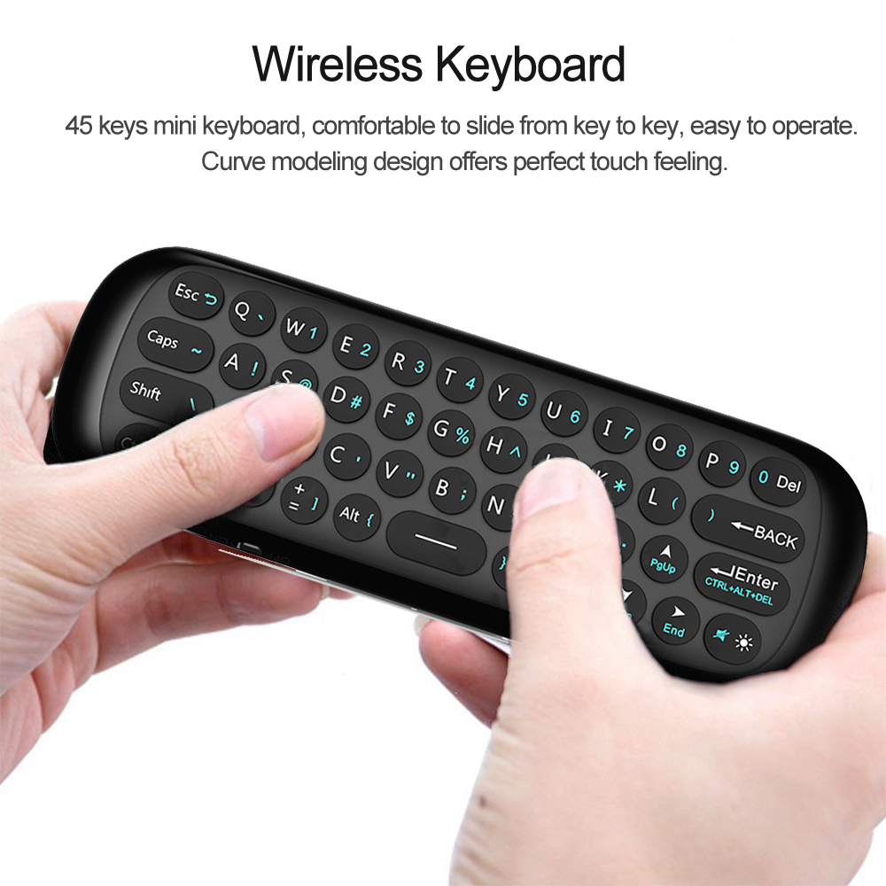 Air Mouse Wireless Keyboard 2.4G Rechargeble Motion Sense Mini Remote Control For Smart Android TV BOX 1