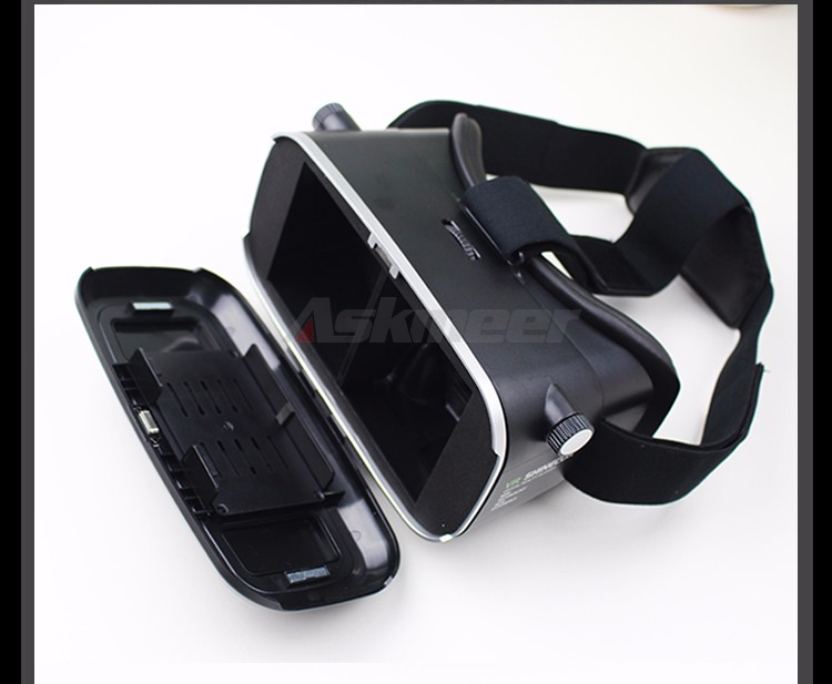 VR Shinecon VR Virtual Reality 3D Glasses Headband Cardboard Headmount Mobile 3D Movie Games for iPhoneSamsung 4.7-6 Smartphone (19)