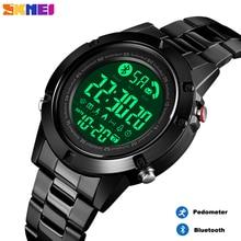 SKMEI Smart Bluetooth männer Uhr Pedometer Kalorie Fitness Uhr Digitale Herz Rate Schlaf Armbanduhr Monitor reloj inteligente