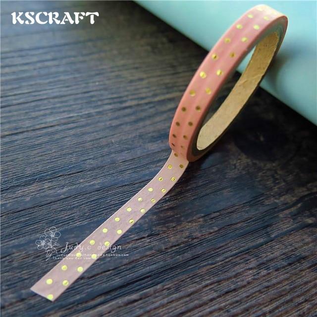 Cinta adhesiva KSCRAFT 5mm * 5 M para Scrapbooking DIY Craft Sticky Deco enmascarar cinta Washi de papel japonés