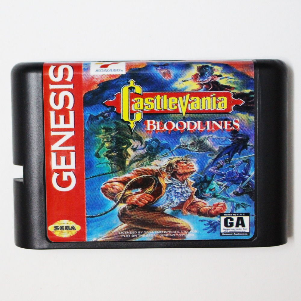 Castlevania Bloodlines NTSC-U 16 bit MD Game Card For Sega Mega Drive For Genesis image