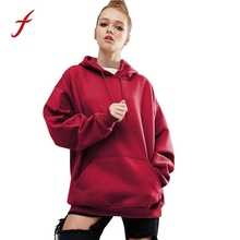 FEITONG Women Long Sleeve Hoodie Sweatshirt Casual Hooded Coat Autumn Winter Fashion Plus size Tracksuit Jumper Pullover 2017