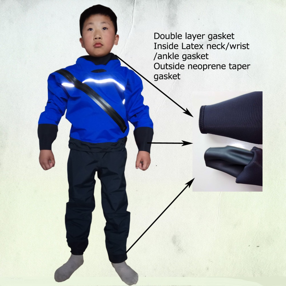 teenage big kids children dry suit latex neck and wrist latex ankle gasket for sailing fishing