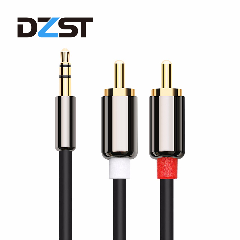 3.5 mm to 2 RCA Audio Cable AUX Splitter Male to Male 3.5mm Stereo 2 RCA Adapter Speaker Cable For amplifier Phone Edifer DVD TV 2 way tv t splitter aerial coaxial cable male to 2 female connectors adapter coaxial splitter adapter