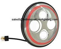 Бесплатная доставка IP67 30 Вт 7 дюймов автозапчастей рынок мычка лица красный гало OSROM из светодиодов с низким и высоким луч света с DRL оптовая