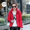 2017 Mulheres Jaqueta de Inverno Parka Grosso Outerwear Inverno Plus Size Para Baixo Casaco Curto Design Slim de Algodão-acolchoado Casacos E Jaquetas casacos ANÚNCIO