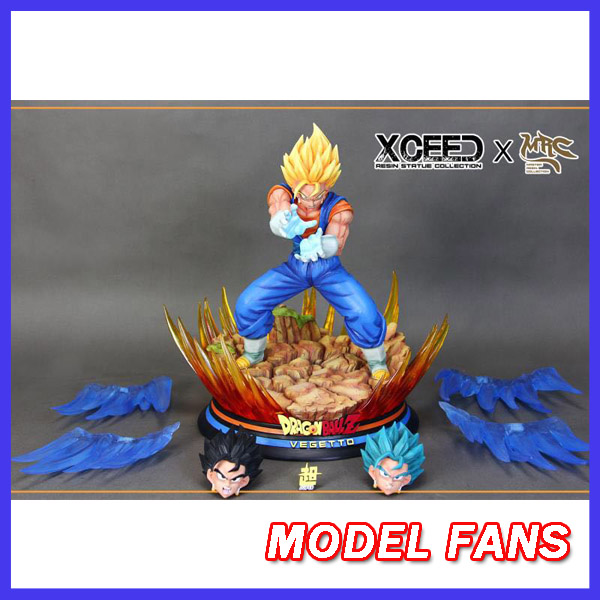 MODEL FANS presale Dragon Ball Z MRC 39cm super saiyan blue Vegetto GK resin statue contain led light for Collection model fans in stock dragon ball z mrc 30cm son gohan practice gk resin statue figure toy for collection