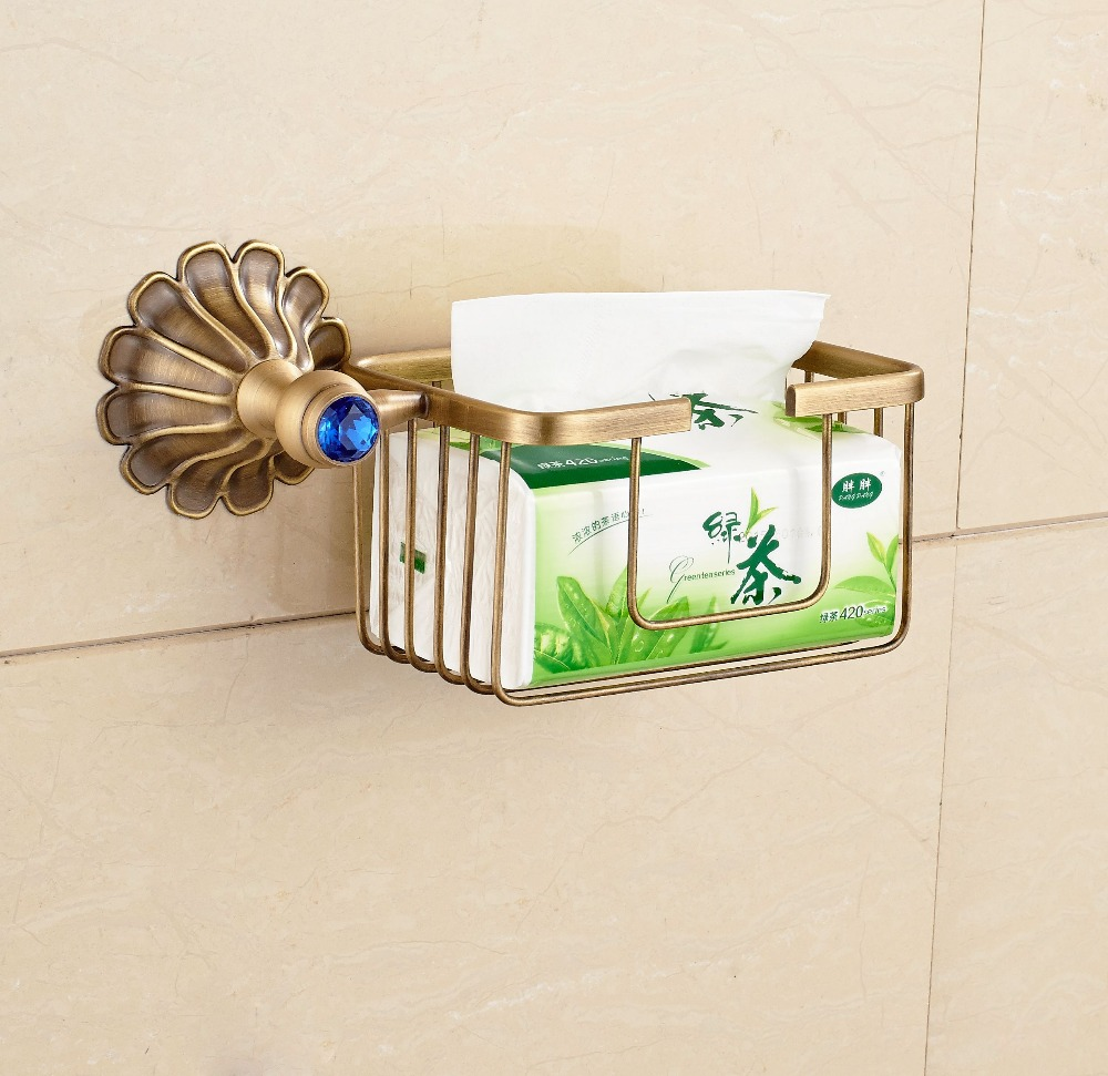 Creative style antique brass toilet paper holder bath Creative toilet paper holder