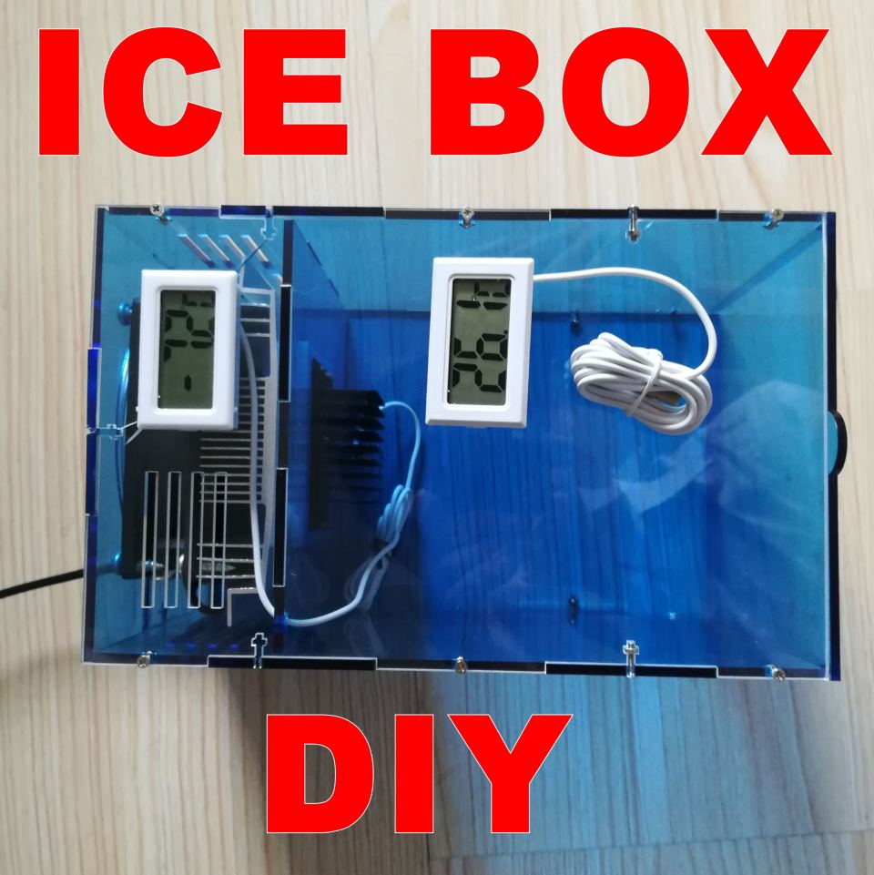 DIY Ice  Box Fresh-keeping box Refrigerator Diy kit Physics experiment, semiconductor refrigeration, scientific interest spacerail diy physics space ball rollercoaster with powered elevator 26000mm rail