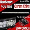 OsramChips 4DS 50Inch 800W LED Work Light Bar Combo Straight Curved External Lights Boat SUV ATV Truck Off-road Driving Car Lamp