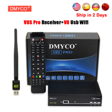 [Genuine] DMYCO V8S PRO DVB-S2 Satellite TV Receiver Support PowerVu Biss Key Cccamd Newcam Youtube Youporn Set Top Box+Usb Wifi