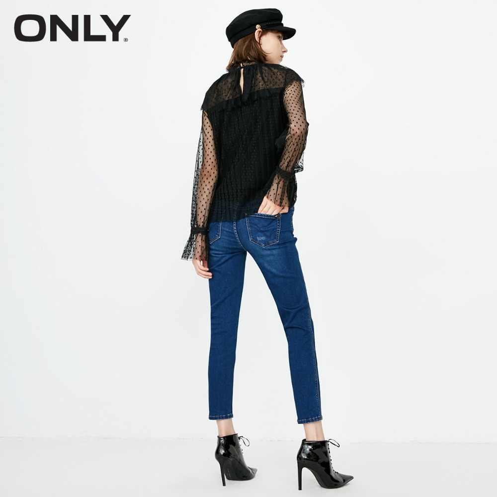 ONLY2019 женские осенние новые узкие укороченные джинсы с низкой талией | 118349574