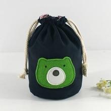Women Children Kids Girls String Bucket Wristlets Cartoon Bear Handbag Bag Phone Key Pocket Handbags Purse Holiday Gift