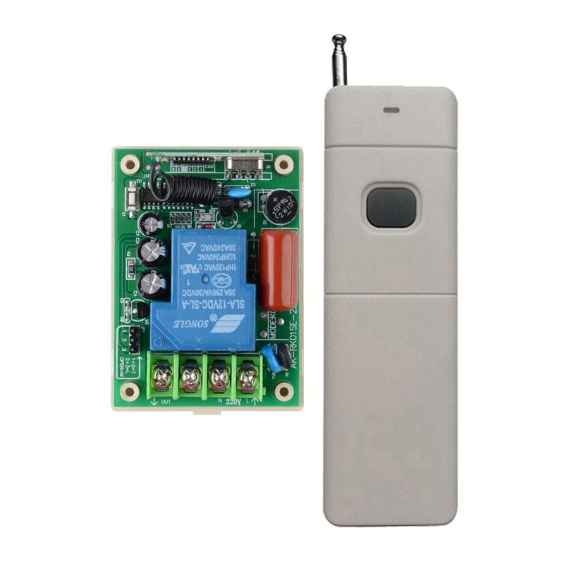 Wireless Remote Control Switch 220v AC 30A Relay High Load Receiver 200-3000m Long Range Transmitter 315/433 Water-Pump Switch ac220v 30a 1000m 1 channel wireless remote control switch 3000w high power relay 15 receiver for water pump sku 5512