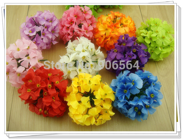 Free shipping 10 colors mix Big flowers hydrangea Head Artificial Silk Flower Heads Craft Wedding Home Party Decoration