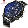 2016 Moda Casual Para Hombre Relojes de Lujo Top Brand NAVIFORCE Militares Hombres Reloj de Cuarzo Reloj Impermeable Relogio Masculino