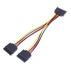 Image 4 - 20cm 15Pin SATA Male to Female 2 SATA Splitter Cable Power Adapter Cord Extension Wire Line for HDD Hard Disk Splitter Connector