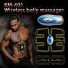 Wireless Electric Massager TENS Unit Electrotherapy Back Pain Relief ABS Fit Muscle Stimulator Massager