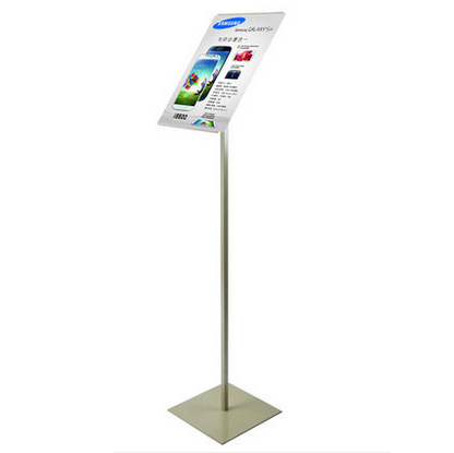 Gratis frakt A4 Metal Poster Stand, Poster Display Rack