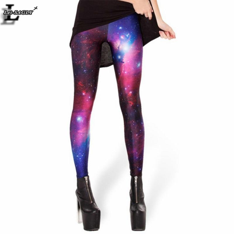 Novo Projeto Cosmic Espaço Impresso Leggings Calças Sexy Mulheres De Fitness Moda Gótico Criativo Forma Magro Populares KZ-007