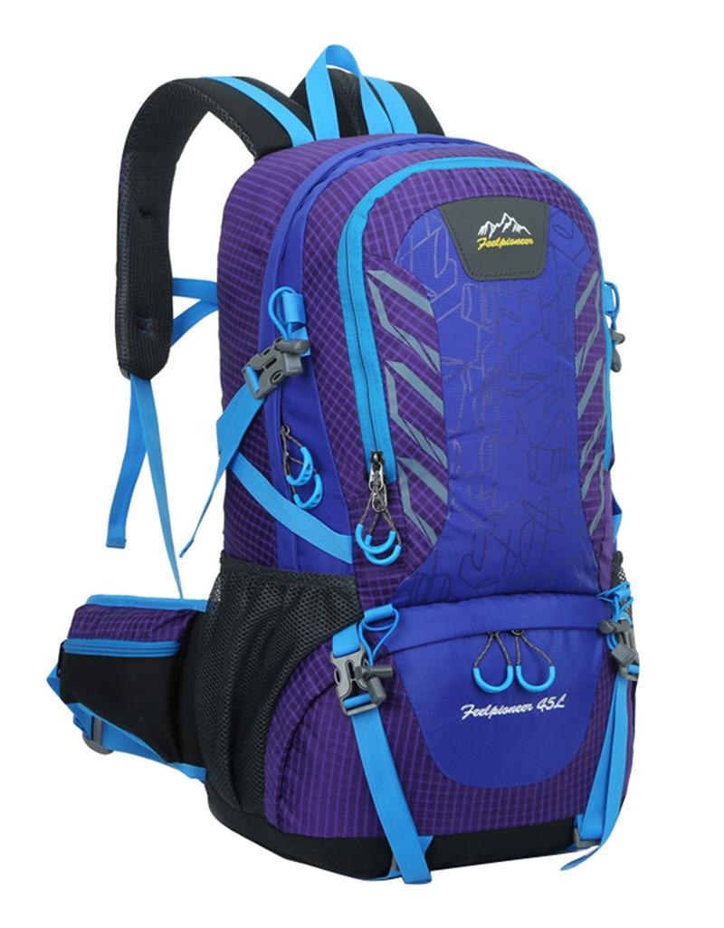 ФОТО fashion school bag Waterproof Nylon men Backpack Hike Camp Climb Bag women mochila Travel Bag Rucksack trekking bag