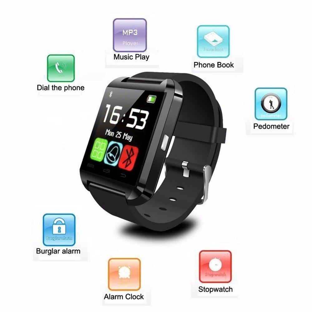 Smartwatch Bluetooth Smart Uhr U80 für iPhone IOS Android Smart Telefon Tragen Uhr Tragbare Gerät Smartwach PK U8 GT08 DZ09 w8