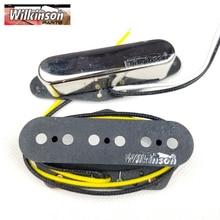TL Wilkinson WVT Alnico5 Tele Pickups Neck and Bridge Tele Eleciric Guitar Pickups Chrome Silver Made In Korea