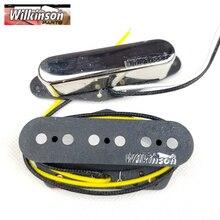 TL Wilkinson WVT Alnico5 pastillas de Tele, mástil y Puente, pastillas de guitarra eléctrica, cromo plateado, hecho en Corea