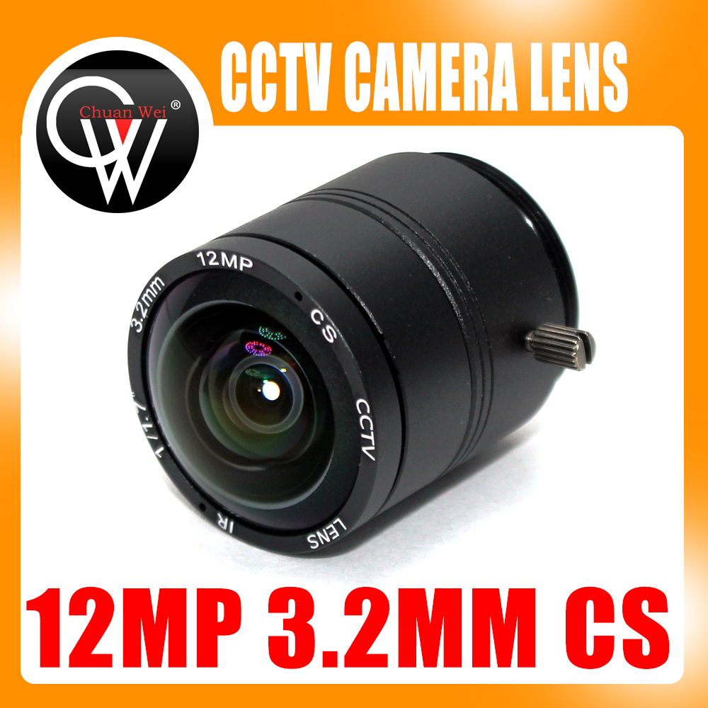 Chuan Wei 12megapixel 4k 3.2mm Lens Fixed Cs Lens 12mp 3.2mm 150 Degree 1/1.7 Inch For 4k Ip Cctv Box Camera At Any Cost Video Surveillance Cctv Parts