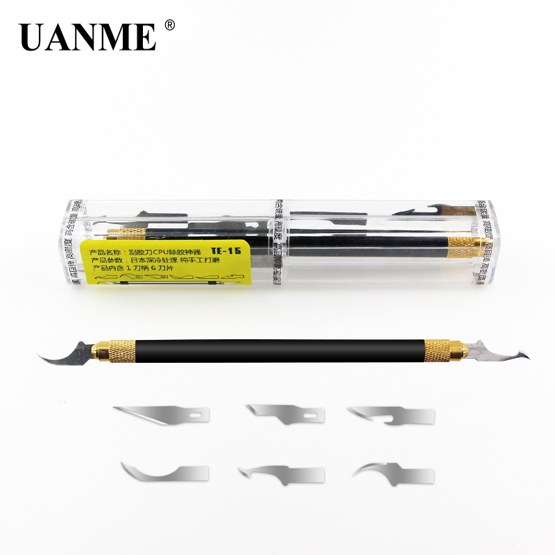 UANME CPU NAND Removal Graver Blade Glue Cleaning Pry Knife Phone Repair Tool For IPhone Motherboard Repair