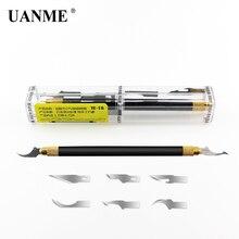 UANME Процессор NAND удаление резьбы по дереву лезвие клея на нож-рычаг телефон ремонт инструмента для материнская плата для iphone ремонт