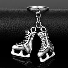 цена на YURI!!! on ICE Anime Jewelry Ice Skate Shoe Keychain Yuri Katsuki Victor Nikiforov Alloy Keychain Car Key Bag Keyring Fans Gift