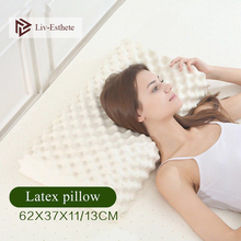 Liv-Esthete Thailand Pure 100% Natural Latex Pillow Remedial Neck Protect Vertebrae Health Care Orthopedic Slow Rebound