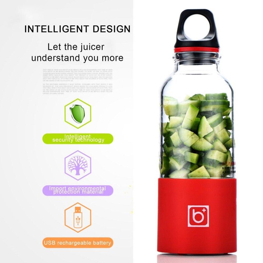 Hot 500ML Portable Automatic Bingo Vegetables Fruit Juice Maker Electric Juicer Cup USB Rechargeable Cup Juice Extractor Blender